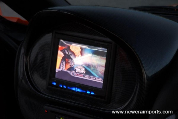 DVD system is connected to 900W custom Alpine Audio System.