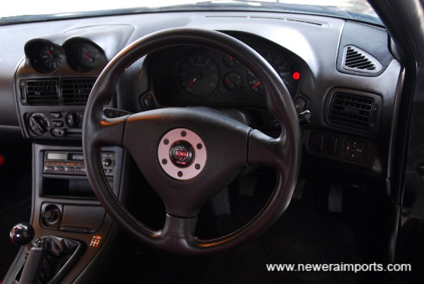 Momo SRS steering wheel.