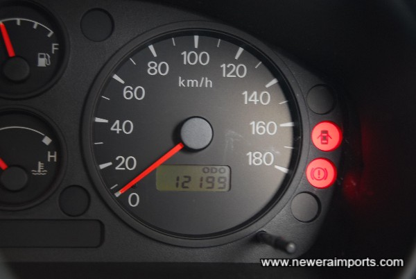 Speedometer was changed on 16th Aug 2006 - Documented.
