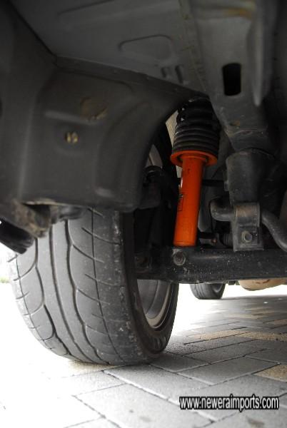 Sustec Street spec dampers - give excellent high grip handling.