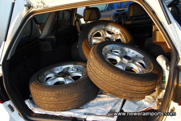 Wheels & Tyres come with the car.