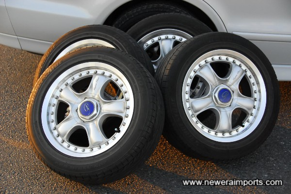 Alloy wheels produced by RAYS - Included with the car.