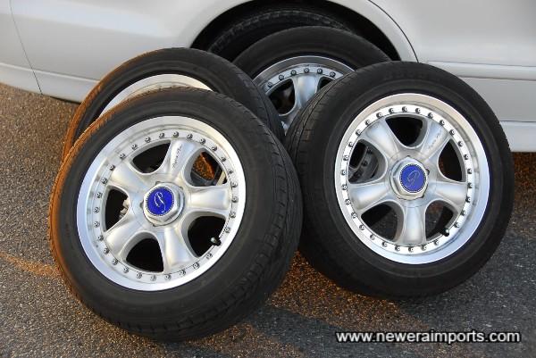 Payton alloy wheels - Produced by rays. Tyres are Bridgestone B500si's