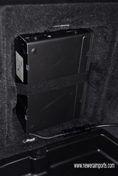 CD changer is located in a purpose made compartment.
