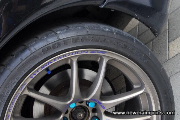 Bridgestone Potenza RE-01R sports tyres - The best sports tyres available in Japan (Recently released).