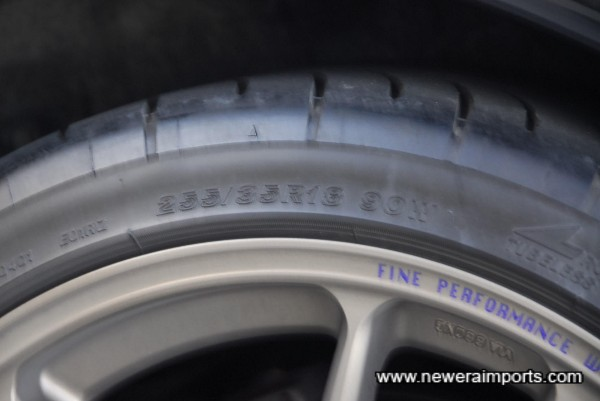Tyre size shown.