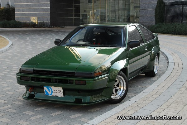 Resprayed in high quality metallic green when kit was fitted.