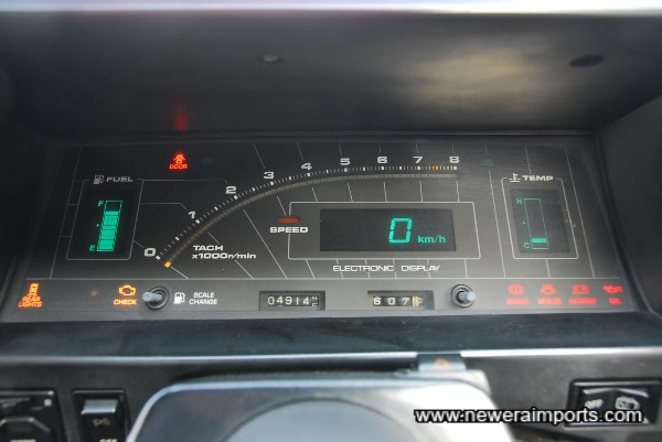 Digital instrument cluster - fitted to JDM models only.