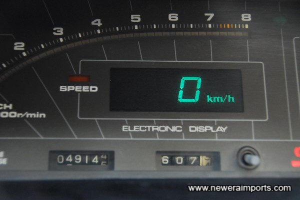 Odometer shows mileage since complete rebuild & engine replacement.