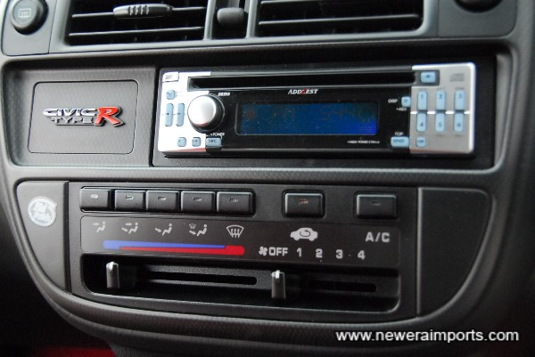 Air conditioning & Audio fitted