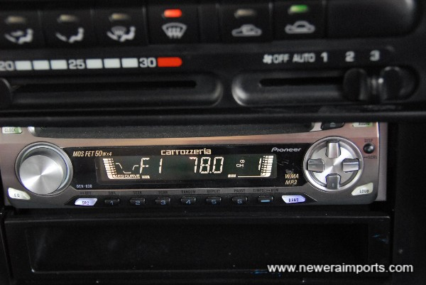 Carrozzeria MOS FET 50W x 4 Audio (Supplied FOC with car).