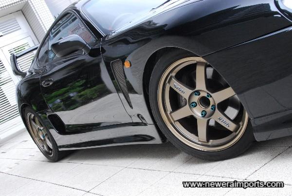 Volk Racing TE37's the lightest wheels made in Japan.
