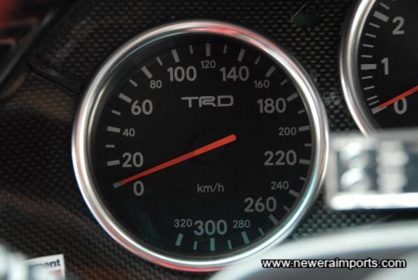 TRD 320 km/h Speedo.