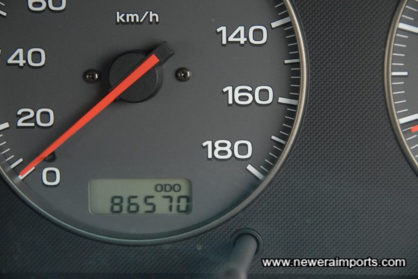 Odometer shows mileage in KMS before recalibration to miles in UK