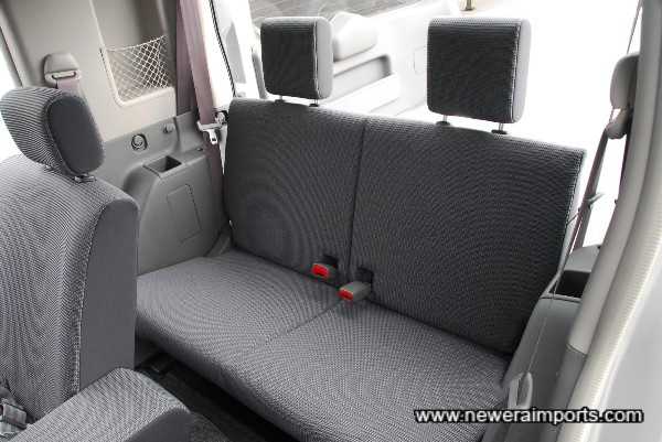 Rear Seat bench (Retracts completely for carrying goods).
