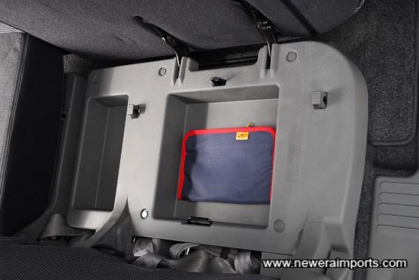 Clever design under seat storage!