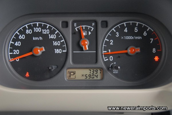 Odometer shows km before conversion to (LOW!) miles in UK,