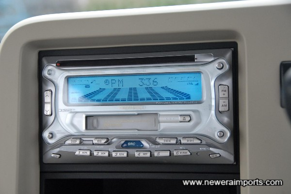 High Quality Tape/CD/Radio unit fitted.