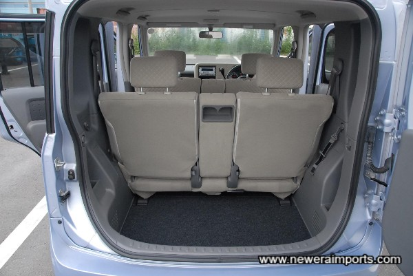 Rear Luggage Space - with lots of small storage pockets & shelves!