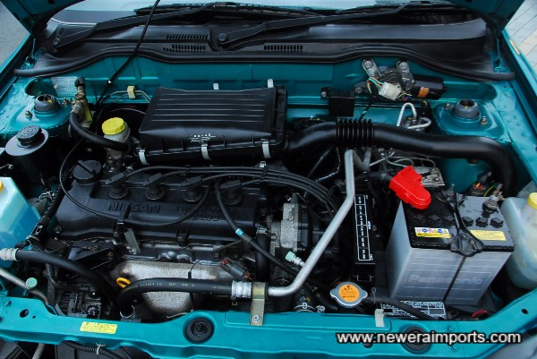 Engine is clean and tidy.