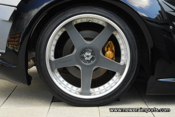Genuine Veilside Andrews Racing V 19' x 11' Deep dish Alloys - Now discontinued!