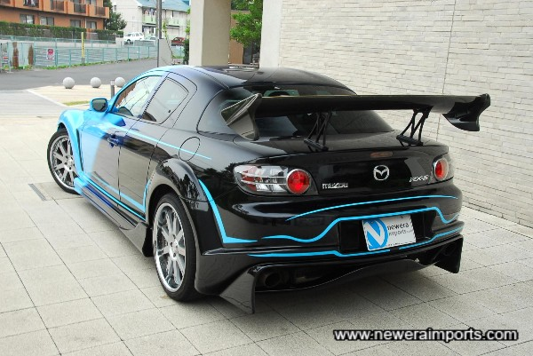 GT Wing is a one-off custom desing by Veilside.