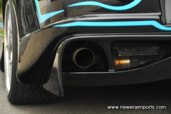 Fujitsubo Legalis R full stainless sports cat back exhaust.