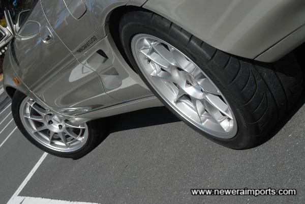 Enkei NT03 wheels.
