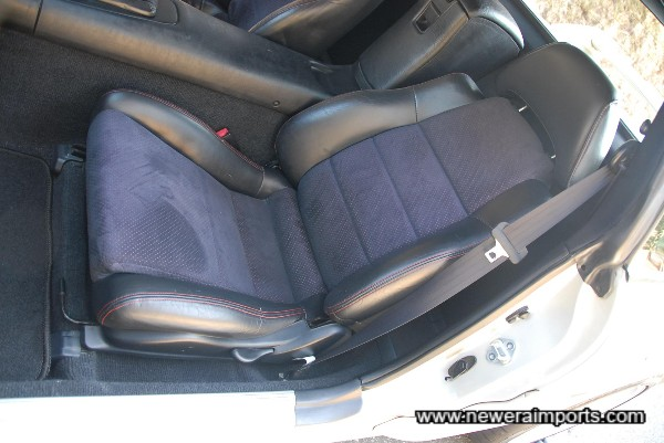 Half leather interior in excellent original condition in keeping with the low genuine mileage.
