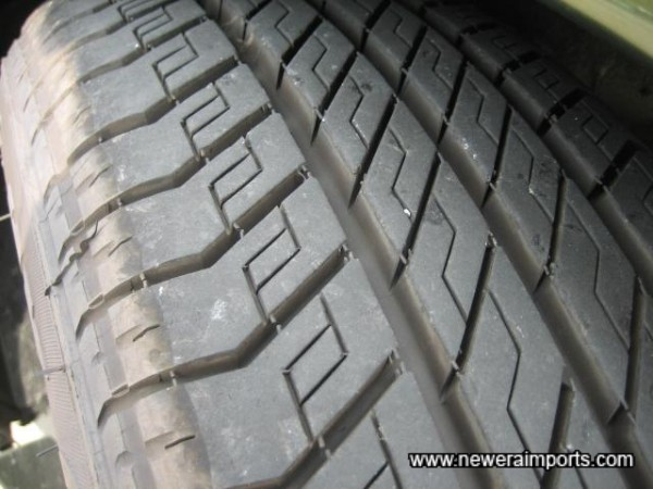 Original tyres in good condition.