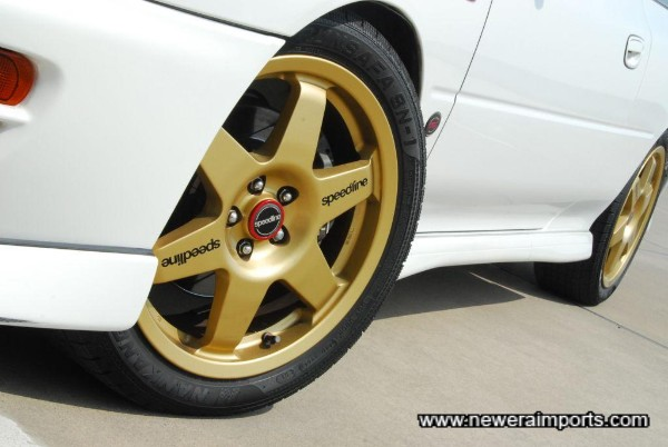 Original Speedline Corse lightweight competition spec. wheels.
