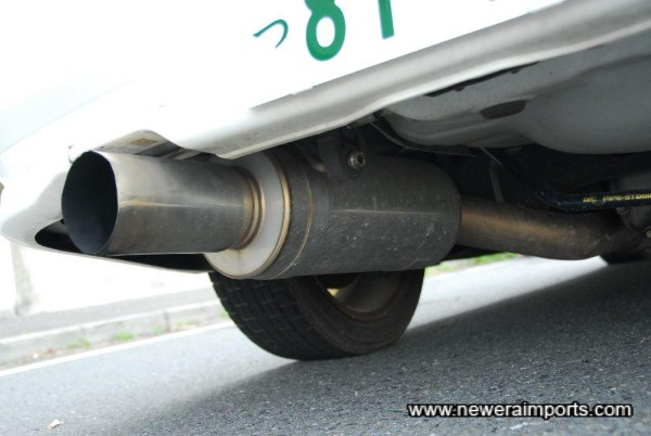 Fujitsubo RM-01A sports exhaust system.