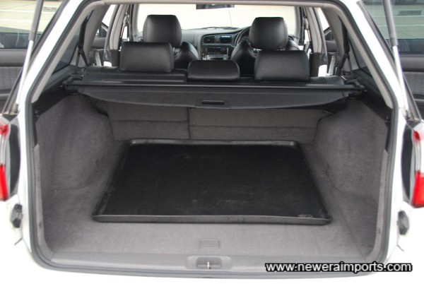 Spaceous boot space. Rear seats fold flat of course.