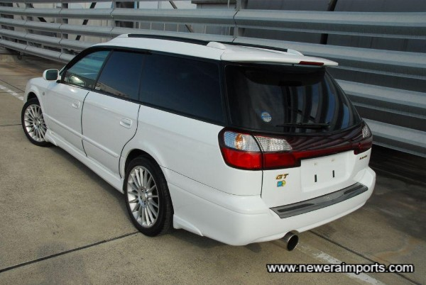 Original option high level rear spoiler with brake light.