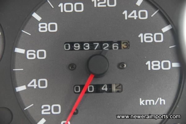 Odometer since new (km) = 58,251 miles.