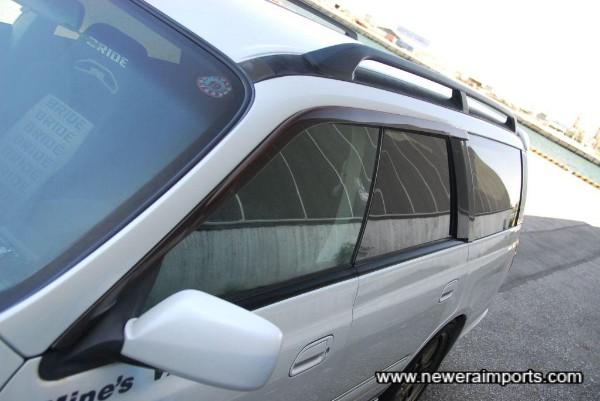 Original Nissan option wind deflectors.