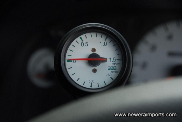 HKS Boost gauge is fitted.
