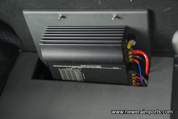 Bose amplifier for driving uprated speakers.