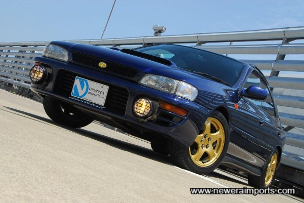Rare to find an Sti Wagon in this colour.