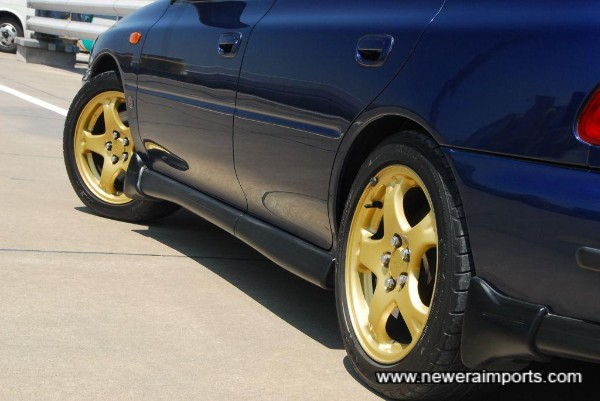 Wheels are fitted with Bridgestone Potenza RE-01 sports tyres (Half worn).