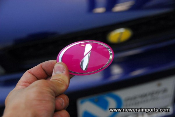 Pink Sti Badge for grille is included.