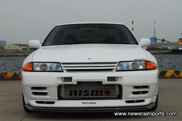 Includes full Nismo front bumper modifications & near new intercooler.