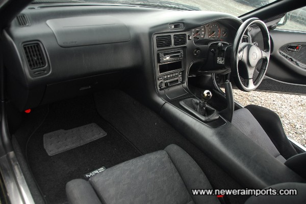 Interior is in excellent well kept condition - in keeping with the car's low mileage.