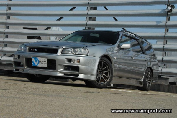 Front R34 GT-R conversion is both unique & stunning.