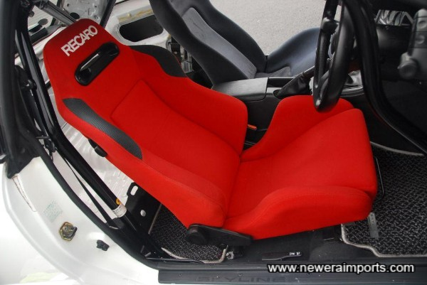 Recaro Driver's seat with adjustable seat rail.