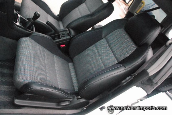 Half leather sports seats.
