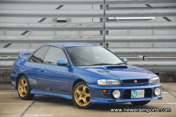 Sonic Blue Metallic is the most sought after colour for a classic Impreza Sti coupe.