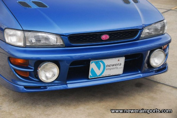 Sti Version 5 front bumper with remote controlled driving lights.