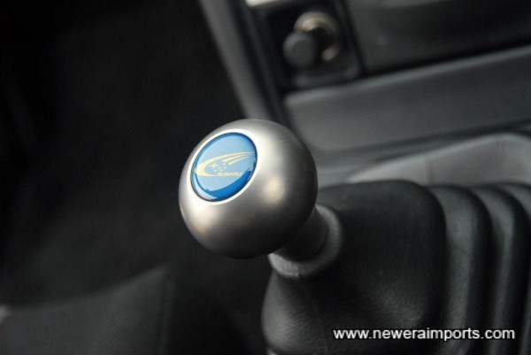Titanium Sti shift knob.