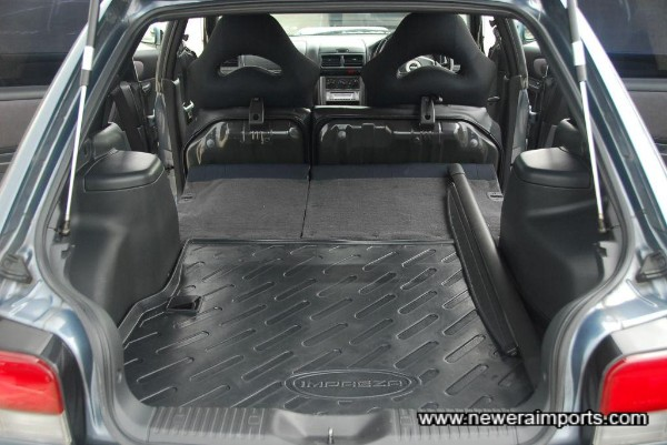 Boot space is excellent -especially with seats folded flat.